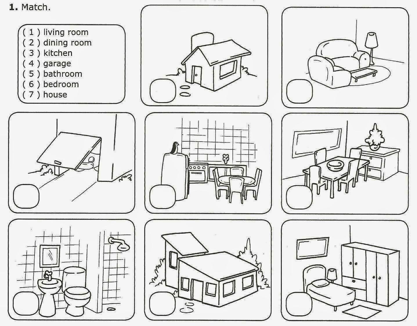 Mundo da Pedagogia: Partes da casa em inglês